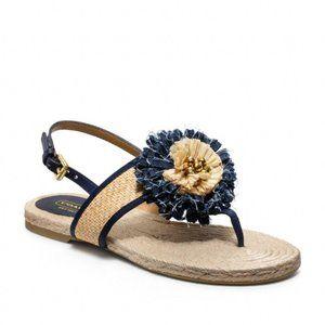 Coach Tegan Floral Bloom Espadrille Thong Sandals
